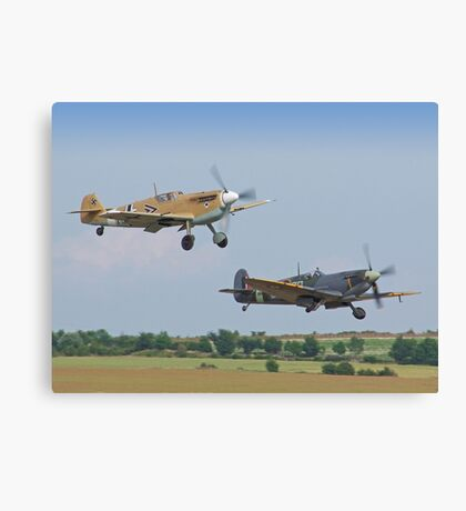 Friend And Foe Take Off - Duxford Flying Legends 2013 Canvas Print
