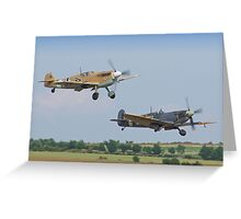 Friend And Foe Take Off - Duxford Flying Legends 2013 Greeting Card
