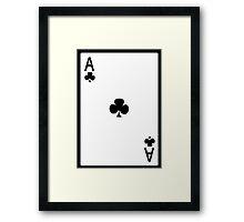Ace of Clubs Framed Print