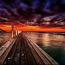 Sundown at Pier 23 by Rick Wollschleger