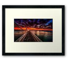 Sundown at Pier 23 Framed Print