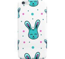 seamless pattern with Easter rabbits on the white backgound iPhone Case/Skin