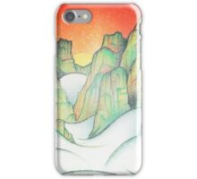 Foggy Cliffs iPhone Case/Skin