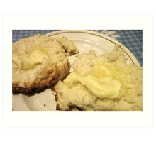 Baking Powder Biscuits and Butter Art Print