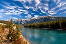 Athabasca River at Jasper, Alberta, Canada . by PhotosEcosse