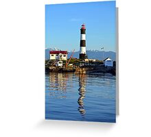 Lighthouse Reflected  Greeting Card