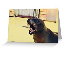 Silly Sealion Greeting Card