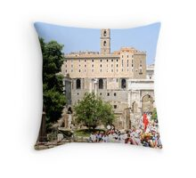 View of Roman Forum, Rome, Italy Throw Pillow