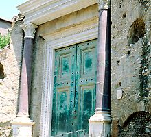 Entrance to the Temple of Romulus, Rome, Italy by hojphotography
