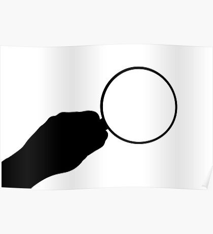 Magnifier Icon Poster