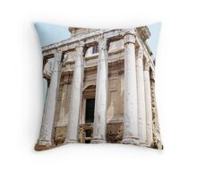 The Temple of Antoninus and Faustina, Rome, Italy Throw Pillow