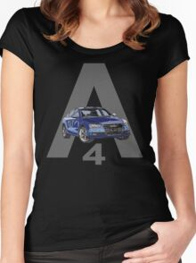 Audi A4 Pen and Ink Sketch 2 Women's Fitted Scoop T-Shirt