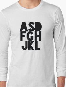 asdfghjkl (Black) Long Sleeve T-Shirt