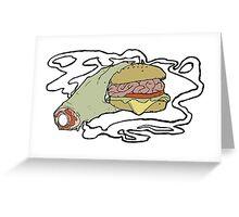 Brain Burger Greeting Card