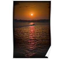 Captain cook sunset 2 Poster