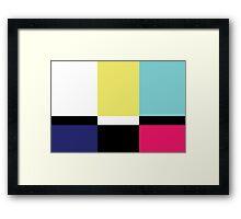 Color Blox Framed Print