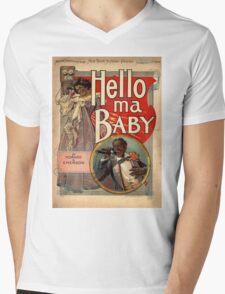 Hello, My Baby Mens V-Neck T-Shirt