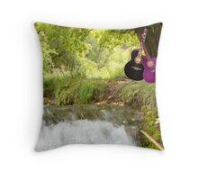 Water Music Throw Pillow