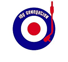 My Generation Vinyl Record Mod Target T-Shirt Photographic Print