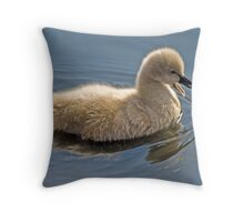 Baby Swan Throw Pillow