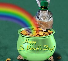St Patrick's Day Bunny Rabbit by jkartlife