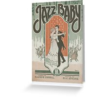 Jazz Baby Greeting Card