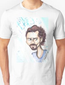 Blue Shirt of Watercolor T-Shirt