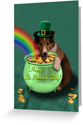 St Patrick's Day Sheltie Puppy by jkartlife