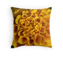 yellow flower poster print closeup macro Throw Pillow
