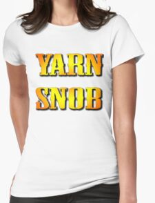 YARN SNOB Womens Fitted T-Shirt