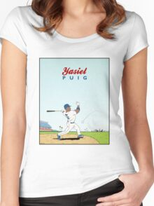 Yasiel Puig Women's Fitted Scoop T-Shirt