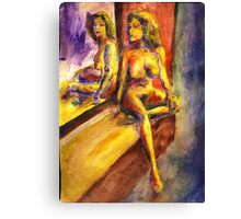 Maria and Her Mirror  Canvas Print