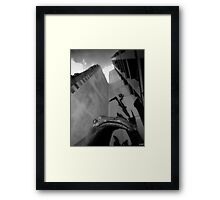 what you lookin at?? Framed Print