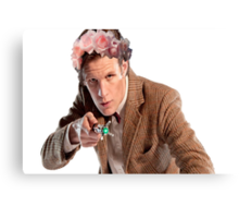 Matt Smith Eleventh Doctor Who Canvas Print