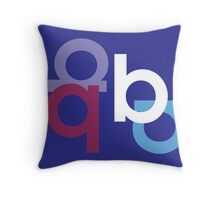 B is for Blueberry. Throw Pillow