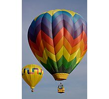 Two hot air balloons  Photographic Print
