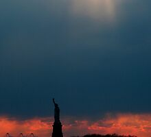 Liberty at Sunset by noshin