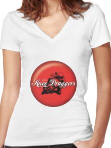 Enjoy... Knee Draggers Women's Fitted V-Neck T-Shirt