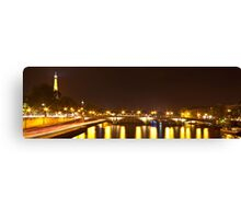Eiffel Tower overview - panorama Canvas Print