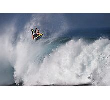 Jeff Hubbard at Banzai Pipeline Photographic Print