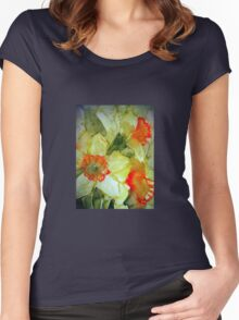 Spring Daffs. Women's Fitted Scoop T-Shirt