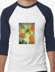 Spring Daffs. Men's Baseball ¾ T-Shirt