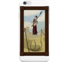 Princess Leia on the Wire iPhone Case/Skin