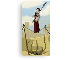 Princess Leia on the Wire Canvas Print