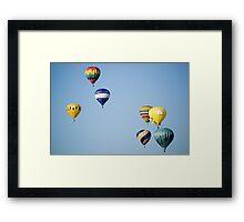 Balloon Festival in flight Framed Print