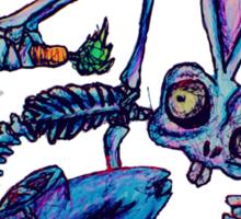 Skeleton Bunny Sticker