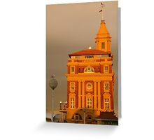 Auckland New Zealand CBD historic ferry buildings  Greeting Card