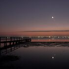 Conjunction Reflection at Dawn - Moon, Mercury, Jupiter and Mars by Mike Salway
