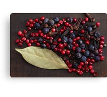 Spice Berries Canvas Print