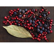 Spice Berries Photographic Print